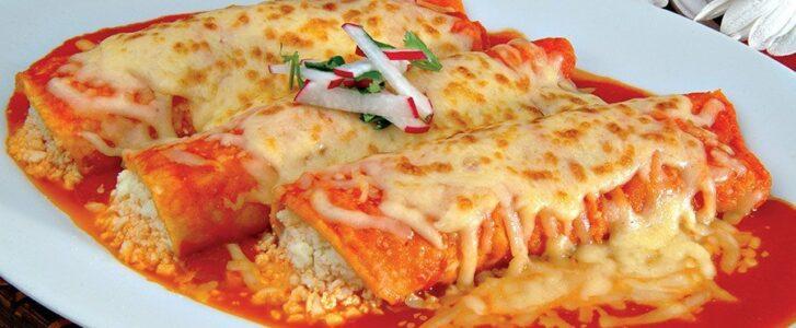Red enchiladas