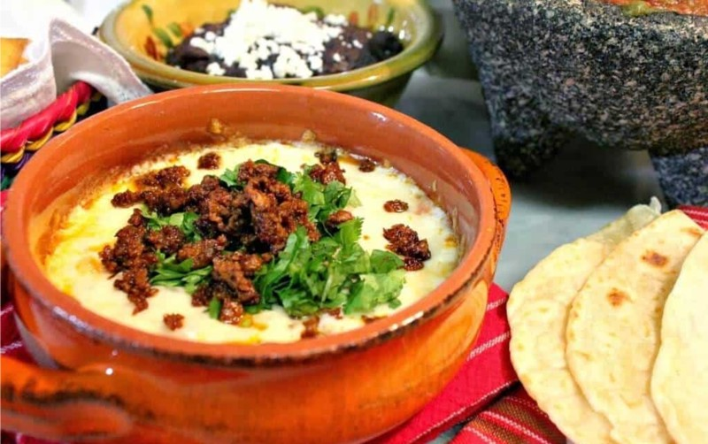 Queso Fundido - Melted Cheese dip